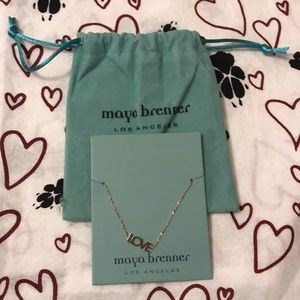 maya brenner Jewelry - Brand new never worn in velvet pouch love bracelet